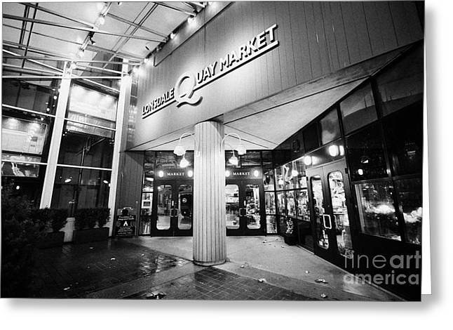 North Vancouver Photographs Greeting Cards - lonsdale quay market shopping mall north Vancouver BC Canada Greeting Card by Joe Fox