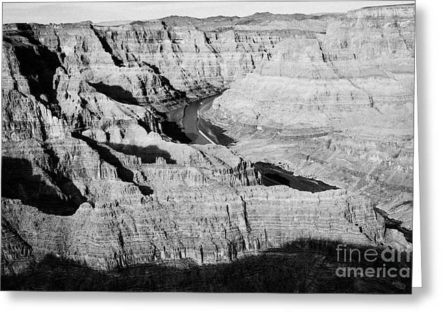 Guano Greeting Cards - looking into the grand canyon and colorado river guano point Grand Canyon west arizona usa Greeting Card by Joe Fox