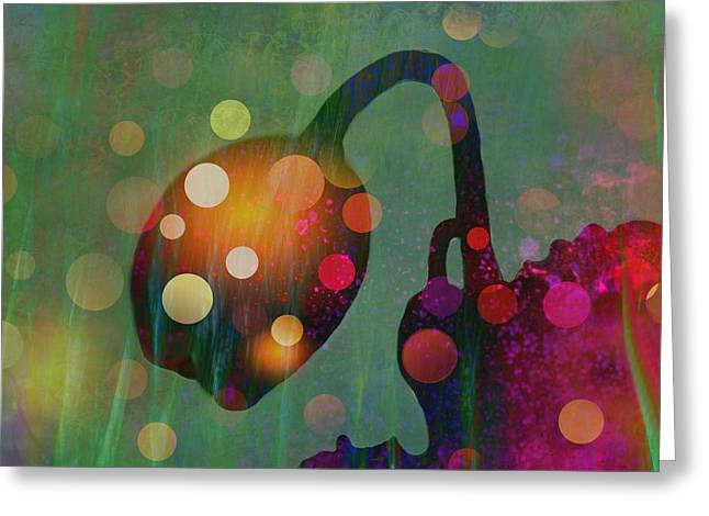 Dark Blue Greeting Cards - Loopy Loo Greeting Card by Shirley Sirois