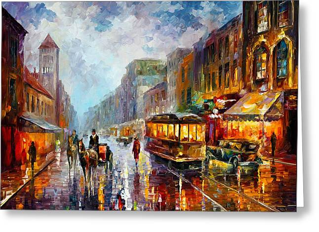 Owner Greeting Cards - Los Angeles 1925 Greeting Card by Leonid Afremov