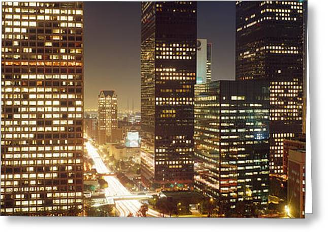 Corporate Business Greeting Cards - Los Angeles California Usa Greeting Card by Panoramic Images