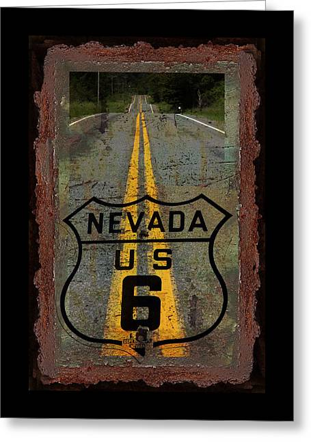 Lost Highway Greeting Card by John Stephens