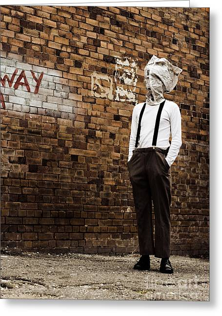 Mystifying Greeting Cards - Lost In Back Alleys Of Yesterday Greeting Card by Ryan Jorgensen