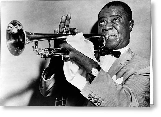 Oldies Greeting Cards - Louis Armstrong Greeting Card by Mountain Dreams