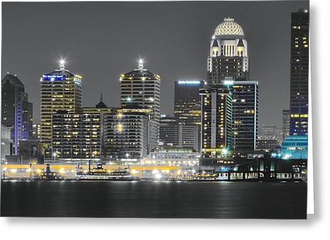 Long Gloves Greeting Cards - Louisville After Dark Greeting Card by Frozen in Time Fine Art Photography
