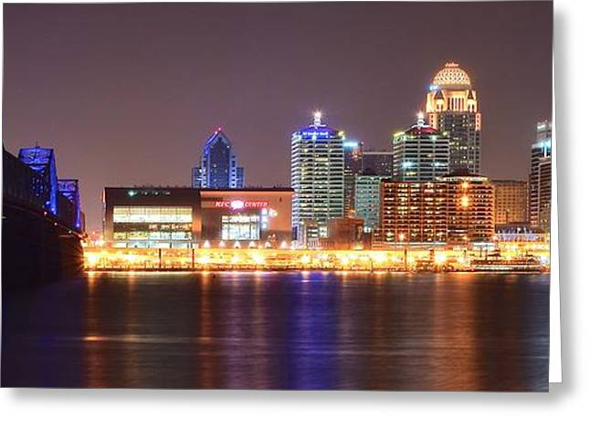Yum Greeting Cards - Louisville Panoramic View Greeting Card by Frozen in Time Fine Art Photography