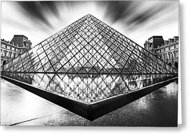 Pyramids Greeting Cards - Louvre Greeting Card by Ivan Vukelic