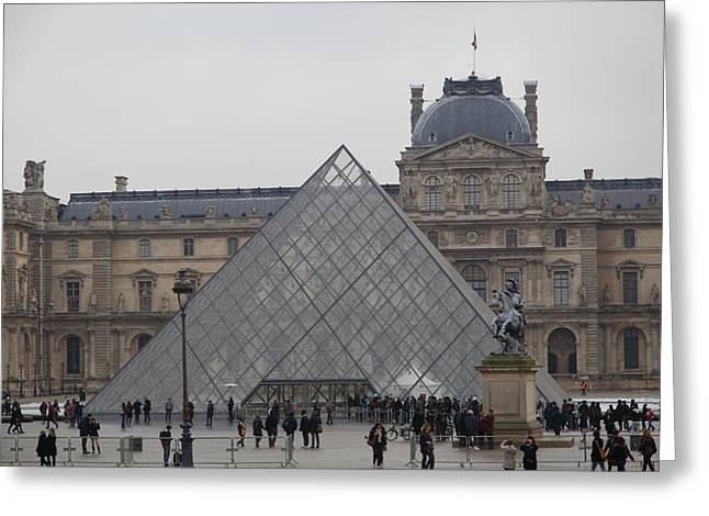 Pyramids Greeting Cards - Louvre - Paris France - 011313 Greeting Card by DC Photographer