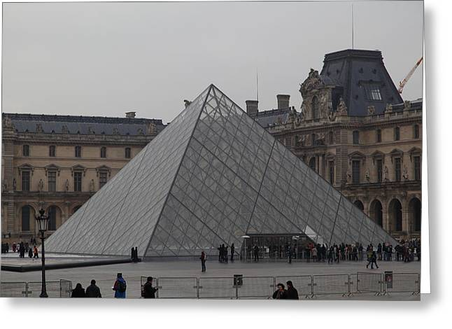 Pyramids Greeting Cards - Louvre - Paris France - 01132 Greeting Card by DC Photographer