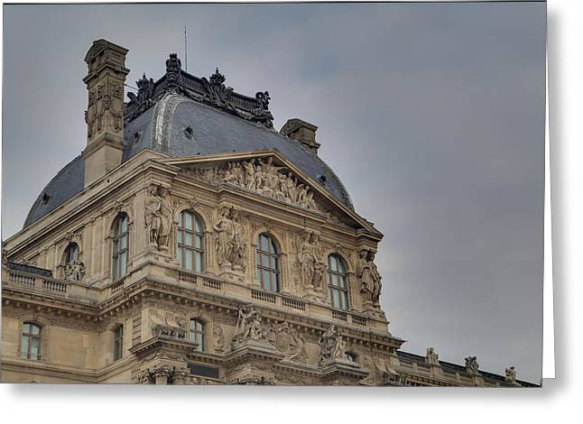 Vertical Greeting Cards - Louvre - Paris France - 01138 Greeting Card by DC Photographer