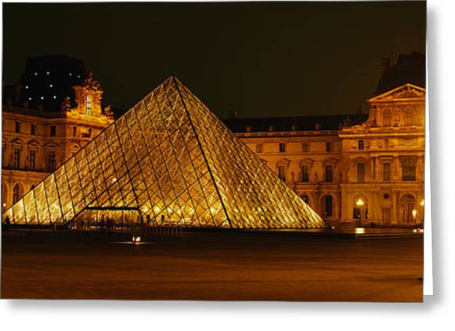 20th Greeting Cards - Louvre Paris France Greeting Card by Panoramic Images