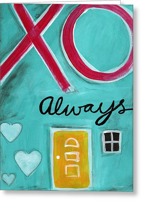 Kitchen Wall Greeting Cards - Love Always Greeting Card by Linda Woods