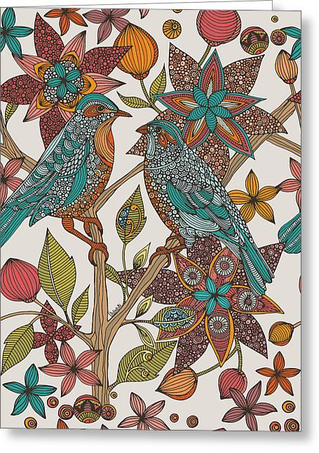Illustration Greeting Cards - Love Birds 2 Greeting Card by Valentina