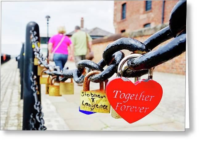 Love Locks Greeting Card by Cordelia Molloy