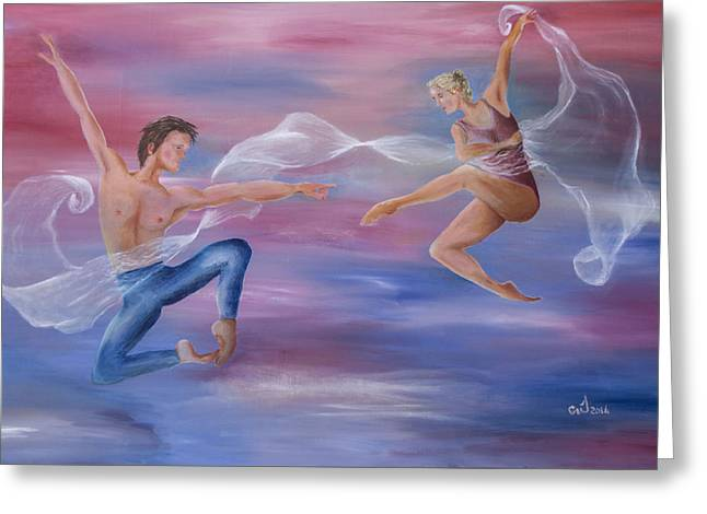 Dance Of The Veils Greeting Cards - Love Of My Life Greeting Card by Music of the Heart