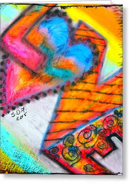 Valentines Day Pastels Greeting Cards - Love Greeting Card by Sherry Flaker