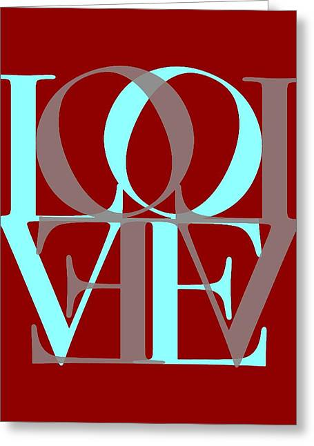 Love Letter Greeting Cards - Love Typography Greeting Card by Dan Sproul
