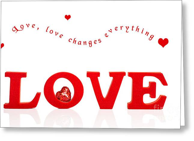Valentines Day Greeting Cards - Love With Heart Greeting Card by Amanda And Christopher Elwell