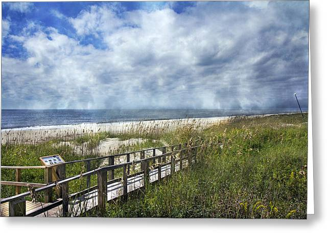 Sea Oats Greeting Cards - Lovely Day Greeting Card by Betsy A  Cutler