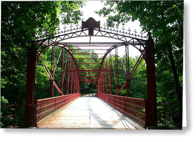 Stephen Melcher Greeting Cards - Lovers Leap Bridge Greeting Card by Stephen Melcher