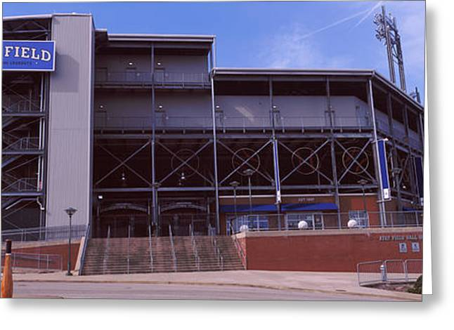 Baseball Stadiums Greeting Cards - Low Angle View Of A Baseball Stadium Greeting Card by Panoramic Images