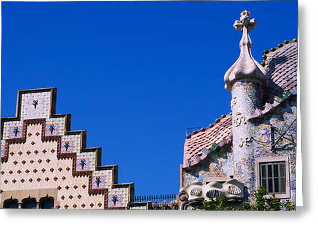 Art Of Building Greeting Cards - Low Angle View Of A Building, Casa Greeting Card by Panoramic Images