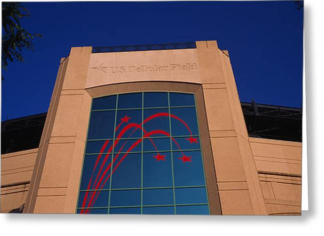 Stadium Design Greeting Cards - Low Angle View Of A Building, U.s Greeting Card by Panoramic Images