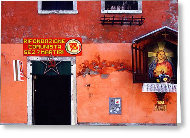 Communist Greeting Cards - Low Angle View Of A Building, Venice Greeting Card by Panoramic Images