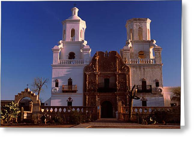 Low Road Greeting Cards - Low Angle View Of A Church, Mission San Greeting Card by Panoramic Images