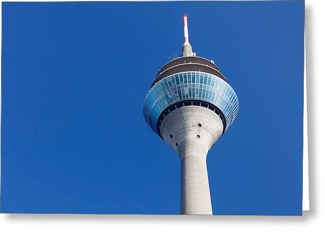 Communications Tower Greeting Cards - Low Angle View Of A Communications Greeting Card by Panoramic Images