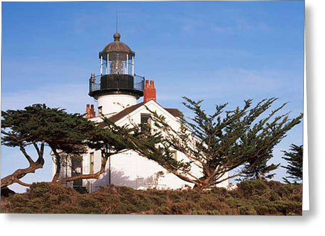 Pacific Grove Greeting Cards - Low Angle View Of A Lighthouse, Point Greeting Card by Panoramic Images