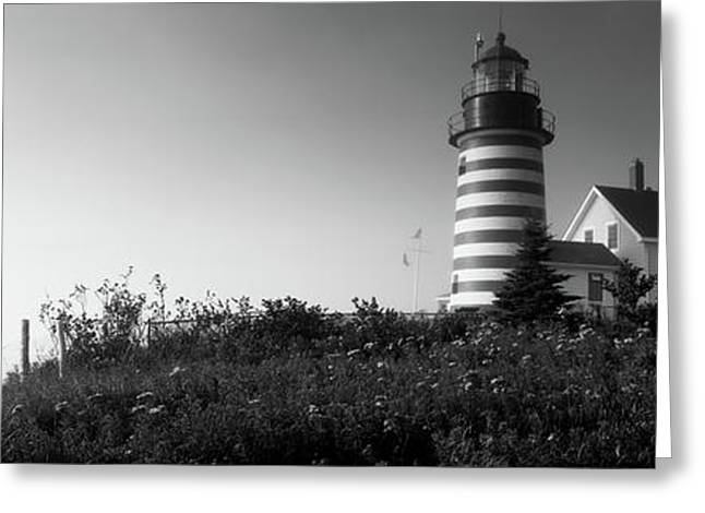 Low Angle View Of A Lighthouse, West Greeting Card by Panoramic Images
