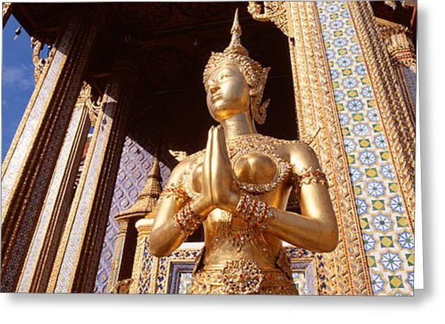 Female Likeness Greeting Cards - Low Angle View Of A Statue, Wat Phra Greeting Card by Panoramic Images