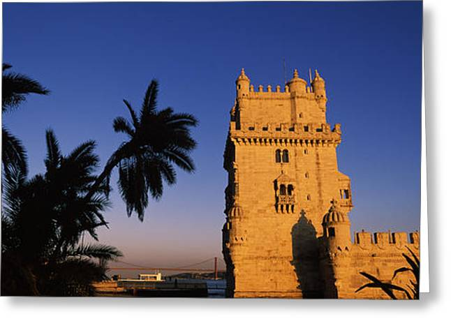 Mediterranean Series Greeting Cards - Low Angle View Of A Tower, Torre De Greeting Card by Panoramic Images