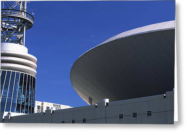 Nashville Greeting Cards - Low Angle View Of Bridgestone Arena Greeting Card by Panoramic Images