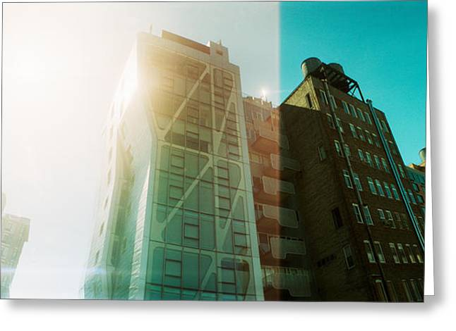 High Line Greeting Cards - Low Angle View Of Buildings Greeting Card by Panoramic Images