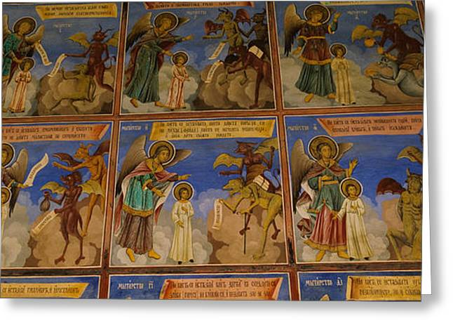 Low Angle View Of Fresco On The Walls Greeting Card by Panoramic Images