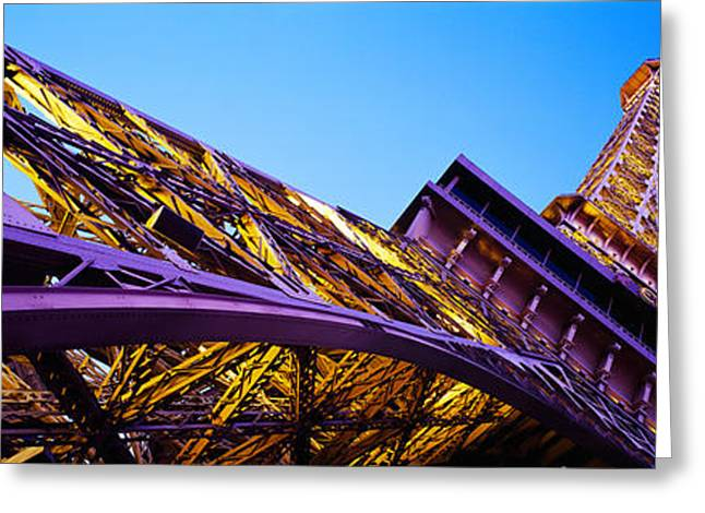 Las Vegas Greeting Cards - Low Angle View Of Las Vegas Replica Greeting Card by Panoramic Images