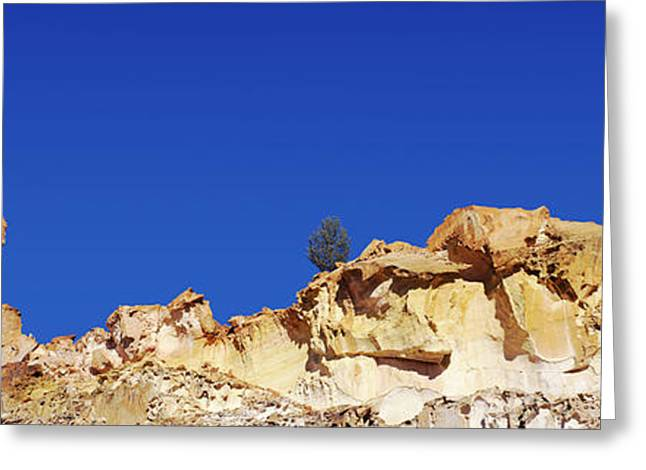 Geology Photographs Greeting Cards - Low Angle View Of Rock Formations Greeting Card by Panoramic Images