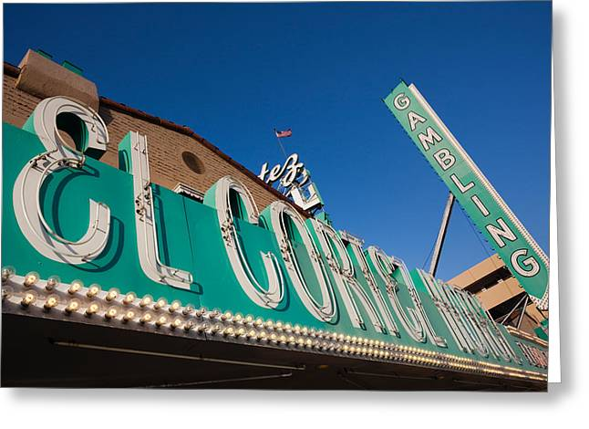 Commercial Photography Greeting Cards - Low Angle View Of Sign Of El Cortez Greeting Card by Panoramic Images
