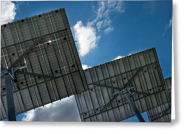 Science Greeting Cards - Low Angle View Of Solar Panels Greeting Card by Panoramic Images