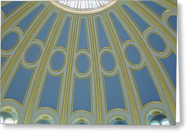 Low Angle View Of The Ceiling Greeting Card by Panoramic Images