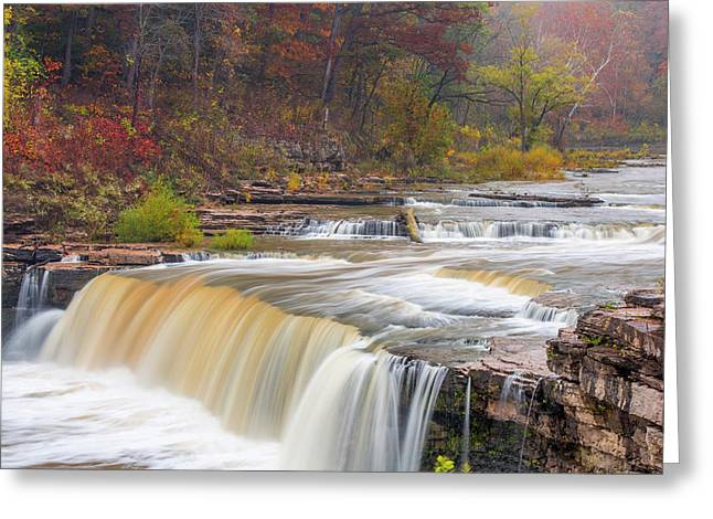 Lower Cataract Falls On Mill Creek Greeting Card by Chuck Haney