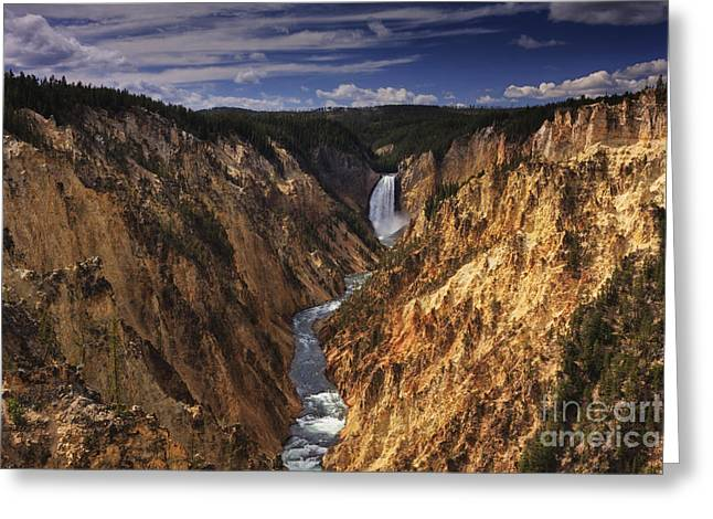 ist Photographs Greeting Cards - Lower Yellowstone Falls II Greeting Card by Mark Kiver