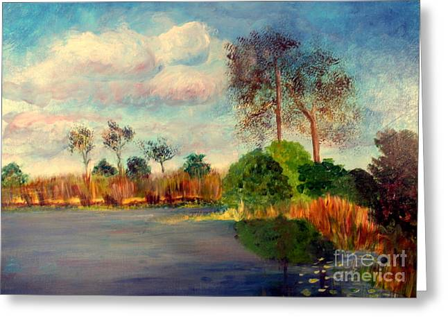 Wildlife Refuge. Paintings Greeting Cards - Loxahatchee Nature Preserve Greeting Card by Donna Walsh