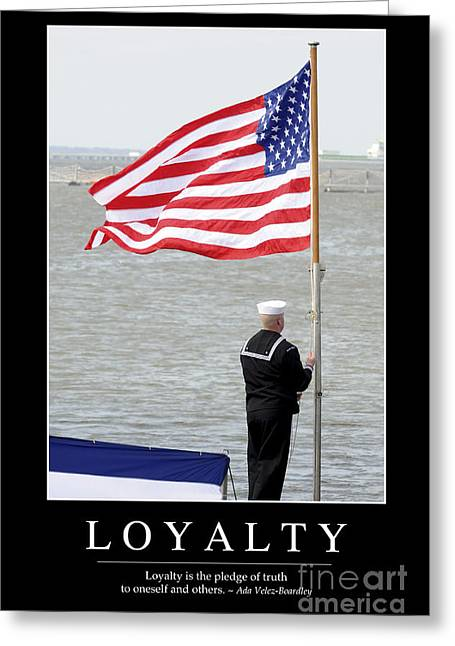 Sailor Hat Greeting Cards - Loyalty Inspirational Quote Greeting Card by Stocktrek Images