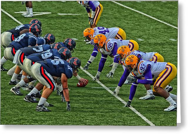 Sec Photographs Greeting Cards - LSU versus Ole Miss 2007 Greeting Card by Mountain Dreams