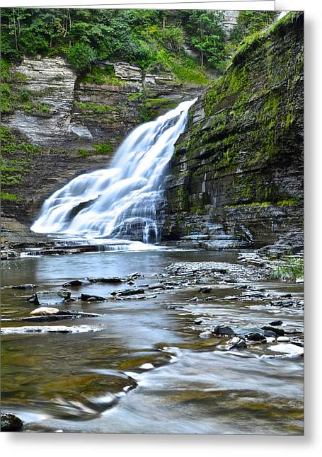 Lucifer Greeting Cards - Lucifer Falls Greeting Card by Frozen in Time Fine Art Photography