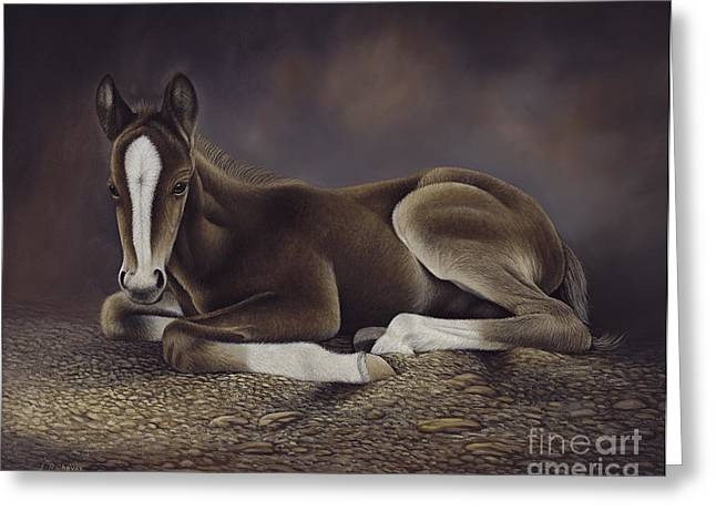 Corral Greeting Cards - Lucky Greeting Card by Ricardo Chavez-Mendez