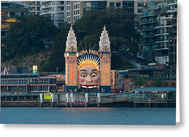 Luna Photographs Greeting Cards - Luna Park On Milsons Point, Sydney, New Greeting Card by Panoramic Images